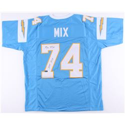 """Ron Mix Signed Chargers Jersey Inscribed """"HOF 1979"""" (Radtke COA)"""