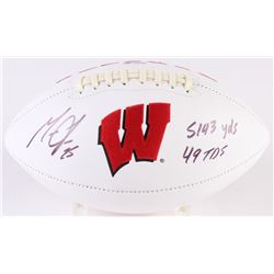 "Melvin Gordon Signed Wisconsin Badgers Logo Football Inscribed ""5143 yds, 49 TDS"" (Radtke COA)"