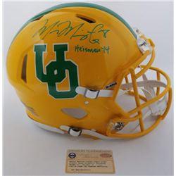 Marcus Mariota Signed LE Oregon Ducks Throwback Full-Size Authentic On-Field Speed Helmet (Steiner C