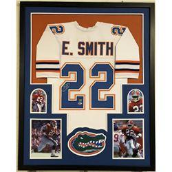 Emmitt Smith Signed Florida Gators 34x42 Custom Framed Jersey (Beckett COA)