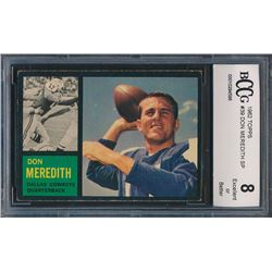 1962 Topps #39 Don Meredith SP (BCCG 8)