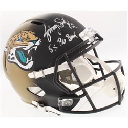 "Jimmy Smith Signed Jaguars Full-Size Speed Helmet Inscribed ""5x Pro Bowl"" (Radtke COA)"