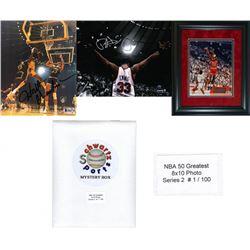 NBA 50 Greatest Mystery 8x10 Photo - Series 2 – Limited to 100 – *Grand Prizes Michael Jordan  W