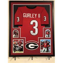 Todd Gurley Signed Georgia Bulldogs 34x42 Custom Framed Jersey (PSA COA)