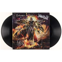 """Judas Priest """"Redeemer of Souls"""" Vinyl Record Album Band-Signed by (5) with Rob Halford, Glenn Tipto"""