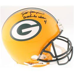 "Brett Favre Signed LE Packers Full-Size Authentic On-Field Helmet Inscribed ""Last to Wear 4"" (Radtke"