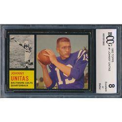 1962 Topps #1 Johnny Unitas (BCCG 8)
