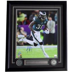 Jay Ajayi Signed Eagles 22x27 Custom Framed Photo Display (JSA COA)