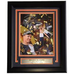 Peyton Manning Signed Broncos 11x14 Custom Framed Photo Display (Fanatics Hologram)
