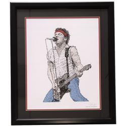 "Bruce Springsteen ""Born in the U.S.A."" Word Art 22x27 Custom Framed Print Display"