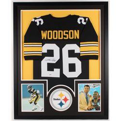 Rod Woodson Signed Steelers 34x42 Custom Framed Jersey Display (Beckett COA)