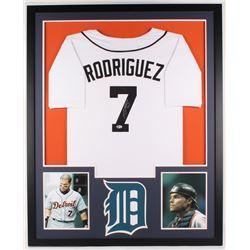 Ivan Rodriguez Signed Tigers 34x42 Custom Framed Jersey Display (Beckett COA)