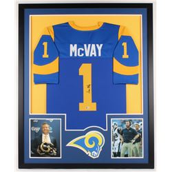 Sean McVay Signed Rams 34x42 Custom Framed Jersey Display (Beckett COA)
