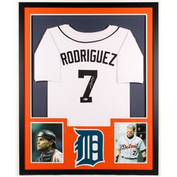 Ivan Rodriguez Signed Tigers 34x42 Custom Framed Jersey (Beckett Hologram)