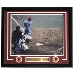"Mike Schmidt Signed LE Phillies 500 Home Run 22x27 Custom Framed Photo Display Inscribed ""1980 WS MV"