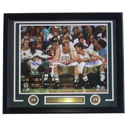 Larry Bird, Kevin McHale  Robert Parish Signed Celtics 22x27 Custom Framed Photo Display (Bird Holog