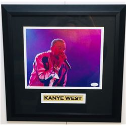 Kanye West Signed 15.5x15.5 Custom Framed Photo Display (JSA COA)