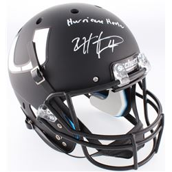 "Devin Hester Signed Miami Hurricanes Custom Matte Black Full-Size Helmet Inscribed ""Hurricane Hester"