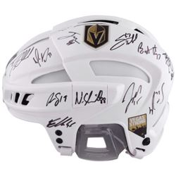 LE James Neal Golden Knights Full-Sized Authentic On-Ice Helmet Team-Signed By (15) With Marc-Andre