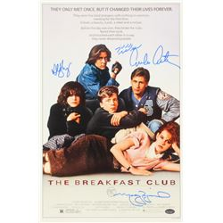 The Breakfast Club 11x17 Movie Poster Signed by (4) with Molly Ringwald, Emilio Estevez, Judd Nelson