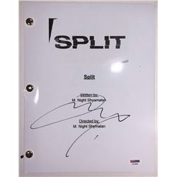"James McAvoy Signed ""Split"" Full Movie Script (PSA COA)"