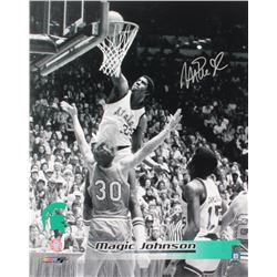 Magic Johnson Signed Michigan State Spartans 16x20 Photo (Schwartz Sports COA)