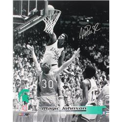 Magic Johnson Signed Michigan State Spartans 16x20 Photo (Schwartz Sports COA)