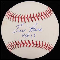 """Tim Raines Signed OML Baseball Inscribed """"HOF 17"""" (JSA COA)"""
