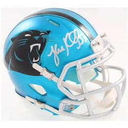 Luke Kuechly Signed Panthers Blaze Speed Alternate Mini-Helmet (JSA COA)