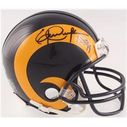 "Eric Dickerson Signed Rams Throwback Mini Helmet Inscribed ""HOF 99"" (Beckett COA)"