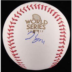 George Springer Signed 2017 World Series Baseball (JSA COA)