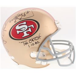 Dwight Clark Signed 49ers Full-Size Helmet with Hand-Drawn Play Inscribed  The Catch    1.10.82,  (J