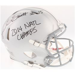 "Ezekial Elliot Signed Ohio State Buckeyes Full-Size Authentic On-Field Helmet Inscribed ""2014 Natl C"