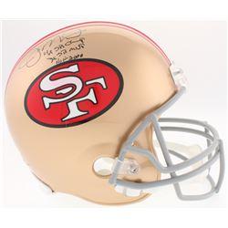 "Joe Montana Signed 49ers Full-Size Helmet Inscribed ""4X SB Champ"", ""3X SB MVP""  ""HOF 2000"" (JSA COA)"