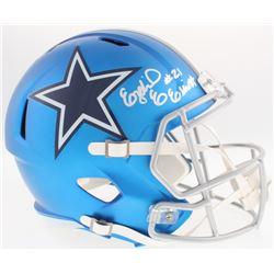 Ezekiel Elliott Signed Cowboys Blaze Full-Size Speed Helmet (Beckett COA)