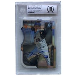 Jacob deGrom Signed 2015 Bowman Chrome Series Next Die Cuts #SNJD (Beckett Encapsulated)