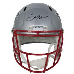 Julian Edelman Signed Patriots Full-Size Helmet Speed (JSA COA)