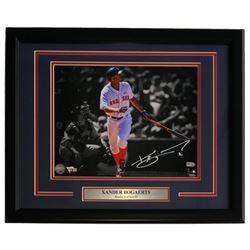 Xander Bogaerts Signed Red Sox 16x20 Custom Framed Photo Display (Fanatics Hologram)