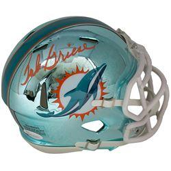 Bob Griese Signed Dolphins Chrome Mini Helmet (JSA COA)