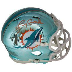 Larry Csonka Signed Dolphins Chrome Mini Helmet (JSA COA)