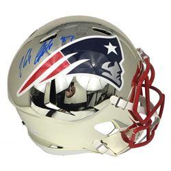 Rob Gronkowski Signed Patriots Chrome Full-Size Speed Helmet (JSA COA)