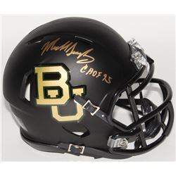 "Mike Singletary Signed Baylor Bears Custom Matte Black Mini Speed Helmet Inscribed ""CHOF 95"" (Schwar"