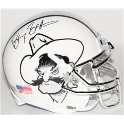 Barry Sanders Signed Oklahoma State Cowboys Mini Helmet (Schwartz COA)