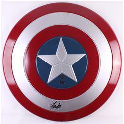 "Stan Lee Signed ""Captain America"" Marvel Full-Size Replica Plastic Shield (Radtke COA  Stan Lee Holo"