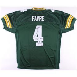 Brett Favre Signed LE Packers Jersey With (5) Career Stat Inscriptions (Favre COA)