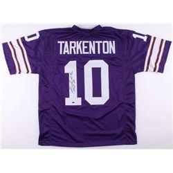 "Fran Tarkenton Signed Vikings Jersey Inscribed ""HOF 86"" (Schwartz COA)"