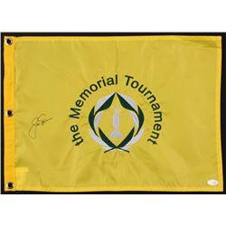 Jack Nicklaus Signed The Memorial Tournament Pin Flag (JSA LOA)
