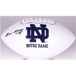 Lou Holtz Signed Notre Dame Fighting Irish Logo Football (Radtke COA)