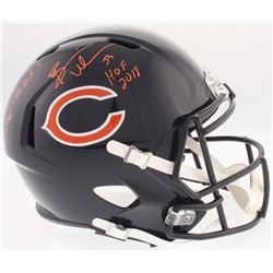 """Devin Hester  Brian Urlacher Signed Bears Full-Size Speed Helmet Inscribed """"KR/PR G.O.A.T.""""  """"HOF 20"""