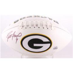 Brett Favre Signed Packers Logo Football (Favre COA)